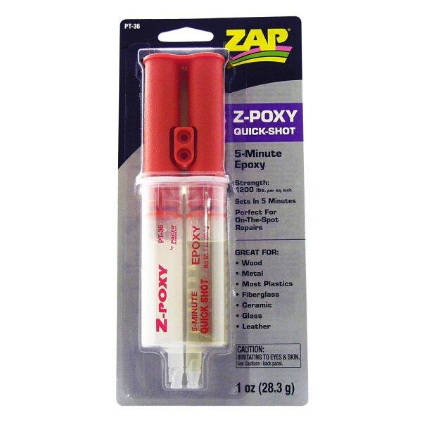 ZAP Z-POXY, PT-36, 5-Minuten, Quickshot 28,3g Dosierspritze