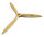 Fiala 3-Blatt 21x14 Verbrenner Holzpropeller - natur