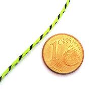 HEPF Schleppleine 1mm geflochten gelb/grün
