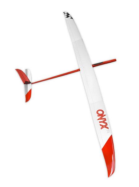 CHOCOFLY Onyx Pro EVO 3.5 Electro CFK Rot (3500mm) ARTF inkl. Schutztaschen und Servo eingebaut