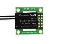 Graupner GR-12L SUMD+T 2 Antennen PCB 2.4 GHz Empfänger