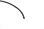 Schrumpfschlauch 6 mm schwarz, lose, 1 m, polyolefin, selbst verlöschend, Rate 3:1