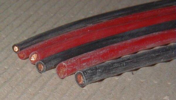 Silikonkabel 0,75mm² rot 1lfm