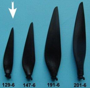 "Kohlefaser Propeller Blatt, Grösse 6A, Durchmesser 5,6"" (141 mm)"