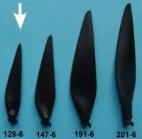Kohlefaser Propeller Blatt, Grösse 6A, Durchmesser...
