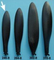 Kohlefaser Propeller Blatt, Grösse 8B, Durchmesser...