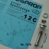 Stahl Spannzange lang Grösse 12C, Bohrung 5mm