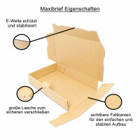 Maxibriefkarton 320x225x50 mm - MB 4 braun (DIN A4)