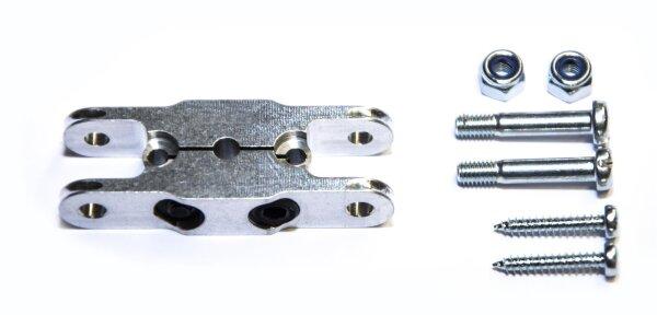 Klemm-Mittelteil 37mm, Bohrung 3,17mm zu HE Spinner