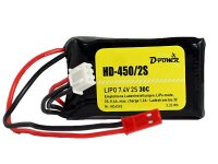 D-Power HD- 450 2S Lipo (7,4V) 30C - mit BEC Stecker