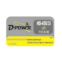 D-Power HD- 450 3S Lipo (11,1V) 30C - mit BEC Stecker