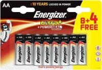 Batterie Energizer Ultra+ Mignon AAA LR03  8+4 Gratis