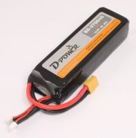 D-Power SD-3700 4S Lipo (14,8V) 45C - mit XT-60 Stecker