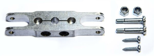 Klemm-Mittelteil 56mm, Bohrung 3,17mm zu HE Spinner