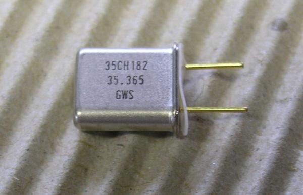 Mini Empfängerquarz Mini 35MHz Kanal 75