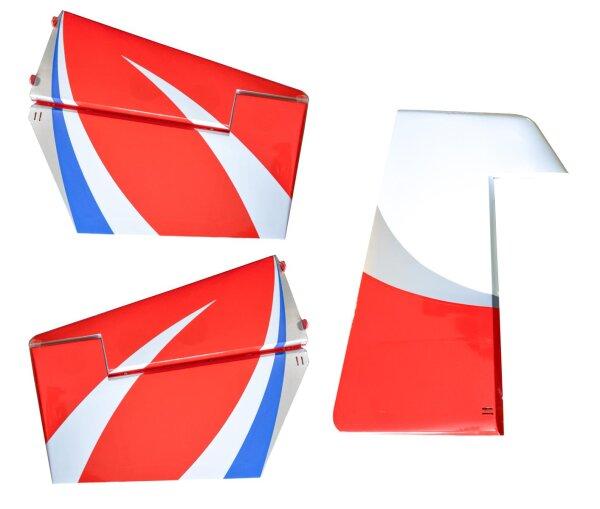 Seiten- und Höhenruder für Sukhoi 29S 140 in weiß/blau