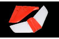 Freewing Stinger Jet 64mm Höhen-Seitenruder Set rot