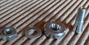 Spannkonus Alu, selbstzentrierend 4mm, Schaft 8mm