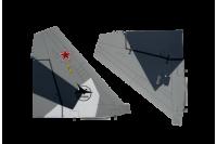 Freewing Su-35 Seitenruderset Grau (camo)