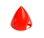 Kunststoffspinner mit Alugrundplatte D 51 rot