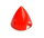 Kunststoffspinner mit Alugrundplatte D 57 mm rot