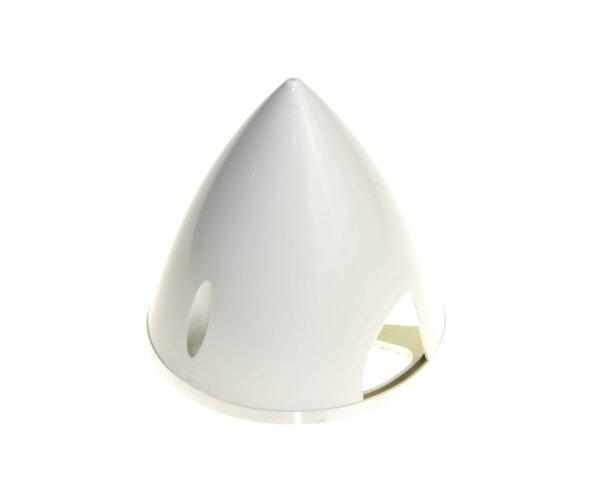Kunststoffspinner mit Alugrundplatte D 57mm weiß